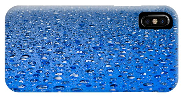 Water Drops On A Shiny Surface IPhone Case