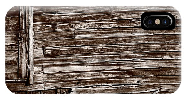 Bodie Ghost Town iPhone Case - Weathered Wall In Bodie Ghost Town by Steve Gadomski