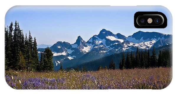 Wildflowers In The Cascades IPhone Case
