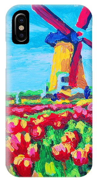 Windmill And Tulips IPhone Case