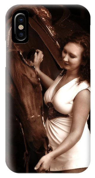 Woman And Horse IPhone Case
