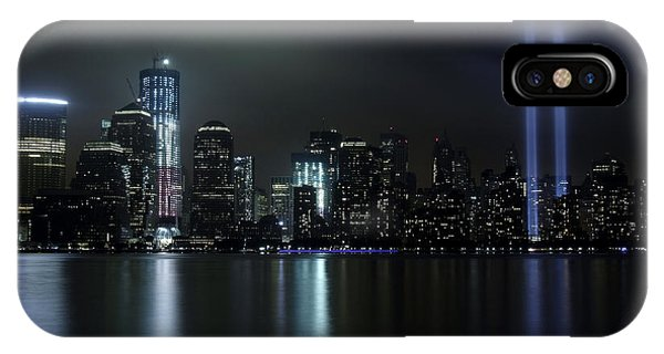 World Trade Center Memorial Lights IPhone Case