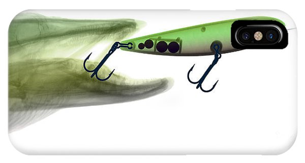 X-ray Of Muskie & Lure IPhone Case