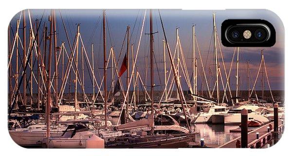 Navigation iPhone Case - Yacht Marina by Carlos Caetano