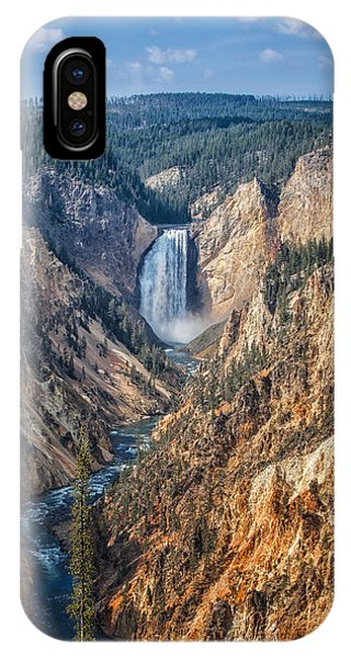 Yellowstone Lower Falls IPhone Case