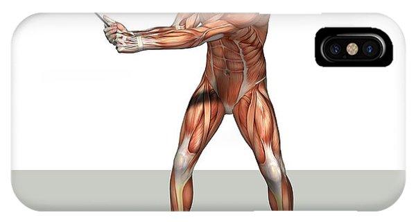 Male Muscles, Artwork Phone Case by Friedrich Saurer