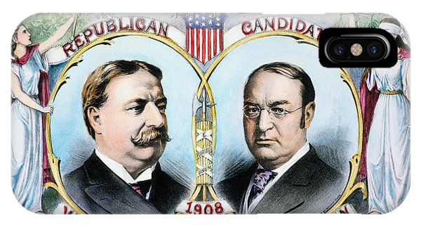 Allison iPhone Case - Presidential Campaign, 1908 by Granger