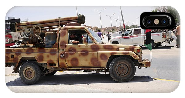 Operation Odyssey Dawn iPhone Case - A Free Libyan Army Pickup Truck by Andrew Chittock