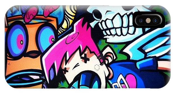 Cartoon iPhone Case - #bristolgraffiti by Nigel Brown