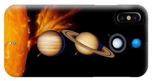 Sun And Its Planets Phone Case by Detlev Van Ravenswaay