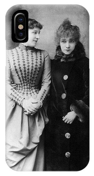 Lillie iPhone Case - Sarah Bernhardt (1844-1923) by Granger