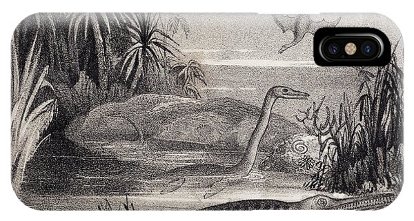 1837 Extinct Prehistoric Animals Dorset Phone Case by Paul D Stewart