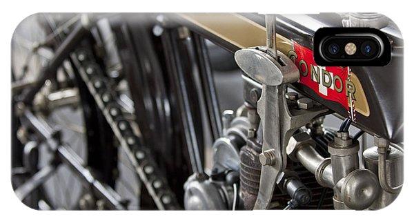 Condor iPhone Case - 1923 Condor Motorcycle by Jill Reger