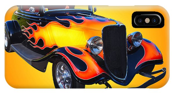 Auto Show iPhone Case - 1934 Ford 3 Window Coupe Hotrod by Jim Carrell