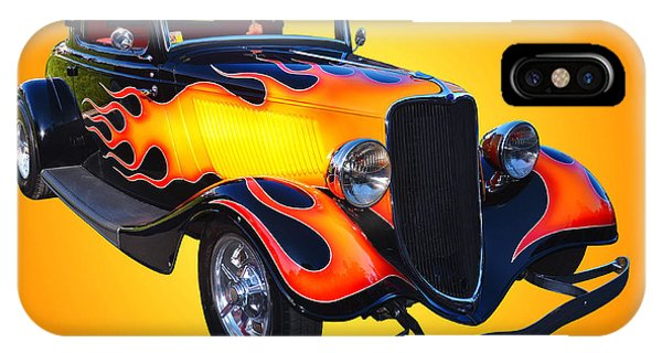 1934 Ford 3 Window Coupe Hotrod IPhone Case