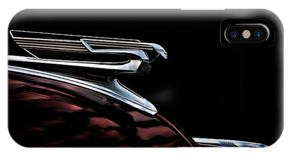 Chevrolet iPhone Case - 1940 Chevy Hood Ornament by Douglas Pittman