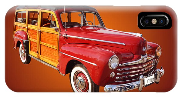Auto Show iPhone Case - 1947 Woody by Jim Carrell