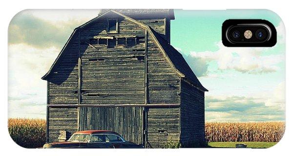 1950 Cadillac Barn Cornfield IPhone Case