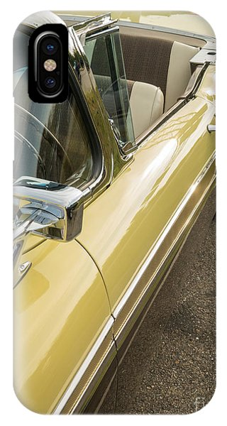 Auto Show iPhone Case - 1957 Ford Fairlane 500 Skyliner Retractable Hardtop Convertible by Edward Fielding
