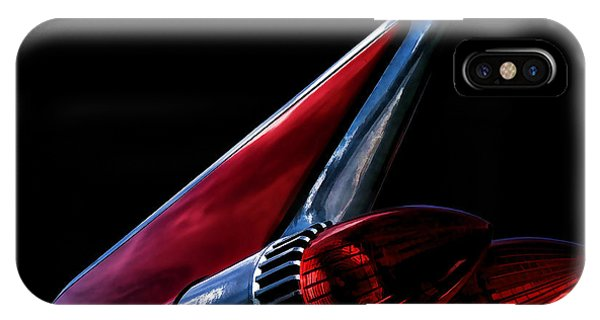 Chrome iPhone Case - 1959 Cadillac Tailfin by Douglas Pittman
