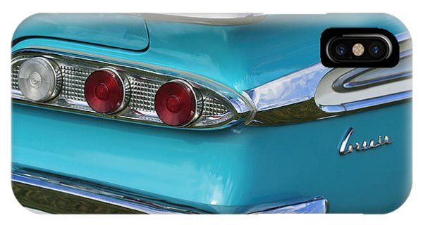 Corvair iPhone Case - 1959 Edsel Corvair Taillights by Jill Reger