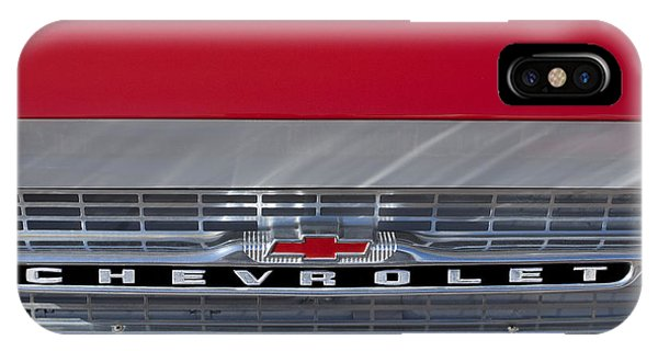 Corvair iPhone Case - 1961 Chevrolet Corvair Pickup Truck Grille Emblem by Jill Reger