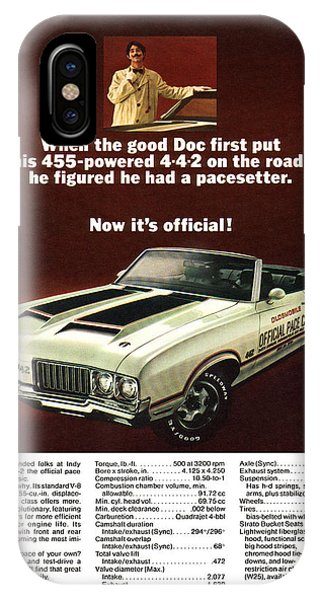 1970 Olds 442 Indy 500 Pace Car Ad IPhone Case