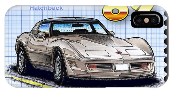 1982 Collector Edition Hatchback Corvette IPhone Case