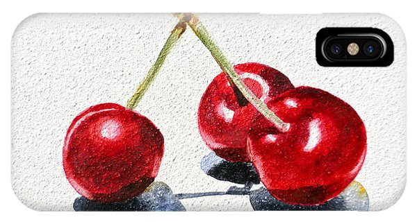 Red Fruit iPhone Case - Cherries by Irina Sztukowski
