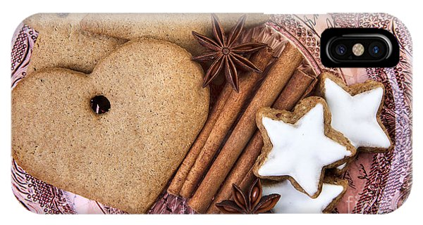 Cake iPhone Case - Christmas Gingerbread by Nailia Schwarz