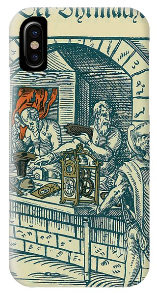 Clockmaker, Medieval Tradesman IPhone Case