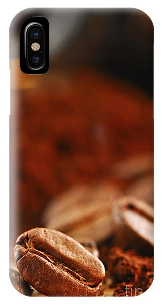 Still Life iPhone Case - Coffee Beans And Ground Coffee by Elena Elisseeva