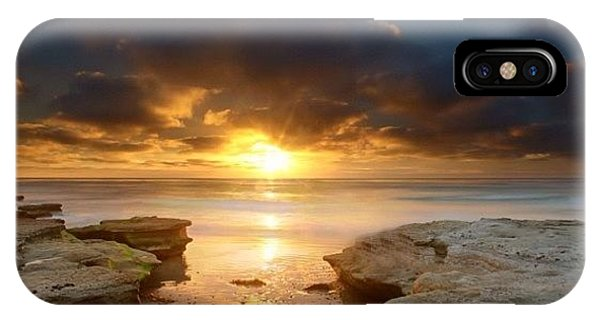 iPhone Case - Long Exposure Sunset In North San Diego by Larry Marshall