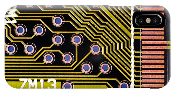 Macrophotograph Of A Circuit Board Phone Case by Dr Jeremy Burgess