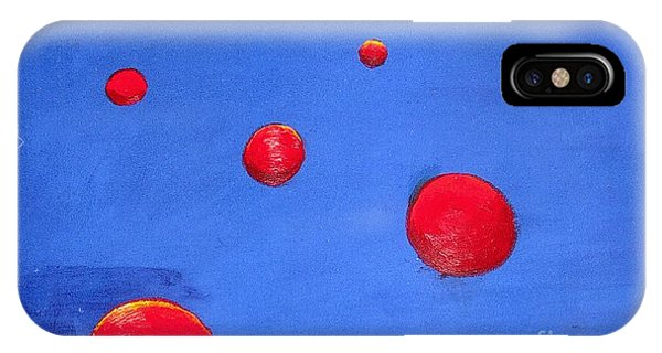 Orbs In Space 1 -- Crossing Paths IPhone Case