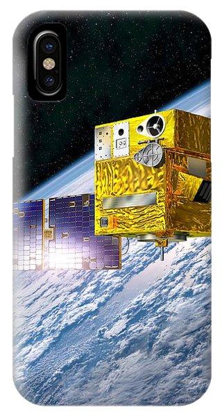 Picard Satellite, Artwork Phone Case by David Ducros