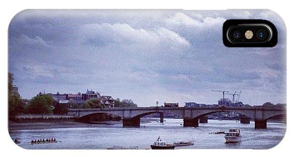 London Bridge iPhone Case - Putney Bridge by Maeve O Connell
