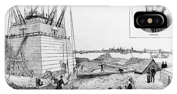 Statue Of Liberty, C1884 IPhone Case