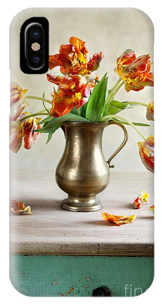 Tulip iPhone Case - Still Life With Tulips by Nailia Schwarz