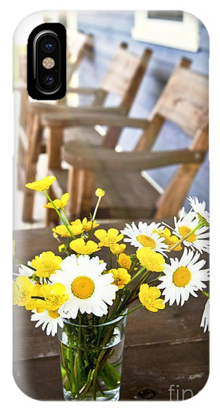 Wildflowers Bouquet At Cottage IPhone Case