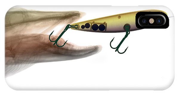 Xray Of Muskie And Lure IPhone Case