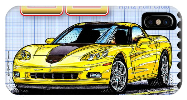 2008 Zhz Hertz Fun Club Corvette IPhone Case
