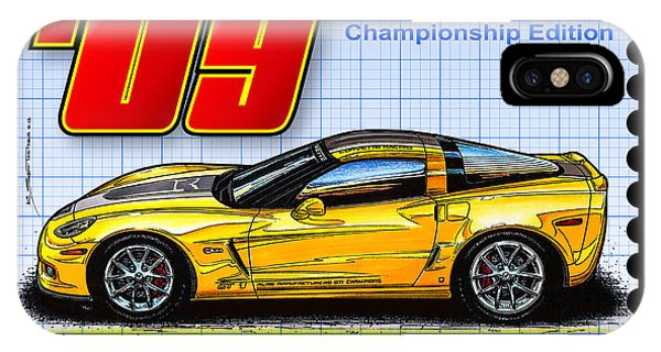 2009 Gt-1 Championship Edition Corvette IPhone Case
