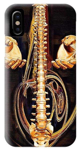 Spines iPhone Case - Healing Hands by Joseph Ventura