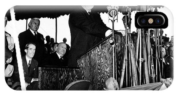 Centennial Bridge iPhone Case - Franklin D. Roosevelt by Granger