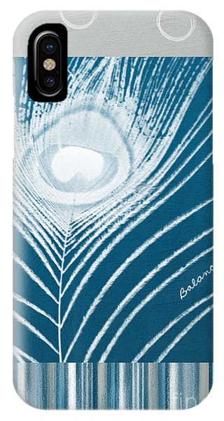 Peacock iPhone Case - Balance by Linda Woods