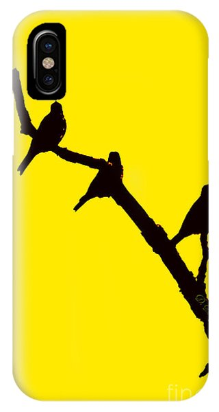 IPhone Case featuring the photograph 3 Birds On A Limb by Donna Bentley