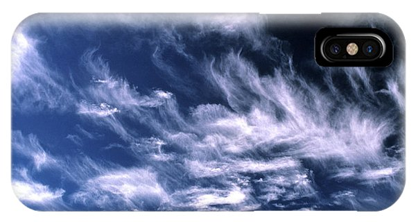 Cirrus Clouds Phone Case by Alan Sirulnikoff