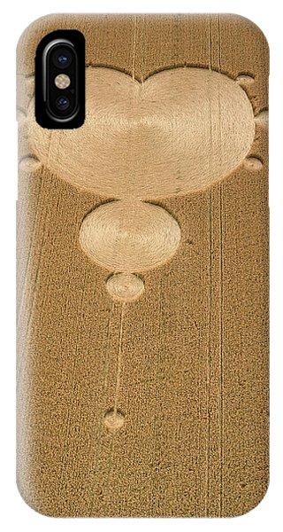 Crop Formation In Form Of Mandelbrot Set Phone Case by David Parker