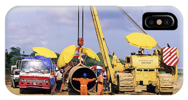 Gas Line Construction Phone Case by David Nunuk